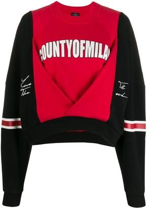 Marcelo Burlon County of Milan Colour-Block Logo Print Sweatshirt