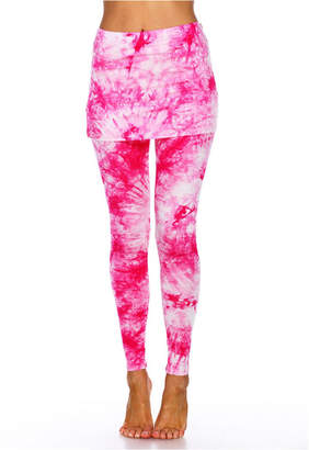 White Mark Tie Dye Skirted Leggings