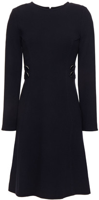 Goat Jane Button-embellished Wool-crepe Mini Dress