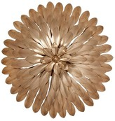 The Well Appointed House Four Light Gold Flower Wall Sconce