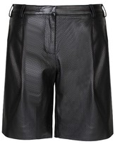Tibi Perforated Leather Pleated Short