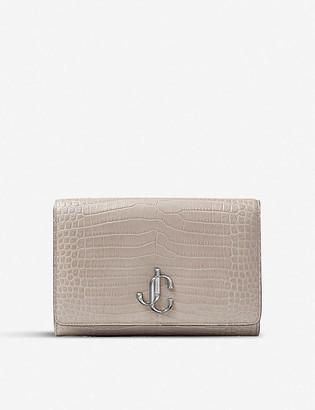 Jimmy Choo Varenne croc-embossed leather clutch bag