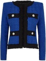 Balmain Cobalt blue tweed jacket