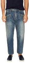 Balmain Multi Pocket Faded Jeans
