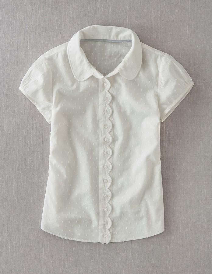 Boden Scallop Trim Shirt