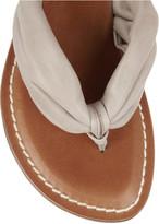 Bernardo Classic Drape ruched leather sandals
