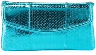 Nancy Gonzalez Tracy Snakeskin Small Clutch Bag