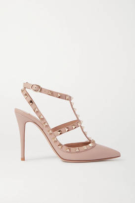 Valentino Garavani Rockstud Leather Pumps - Neutral