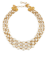 Miriam Haskell Fly With Me Pearl Necklace