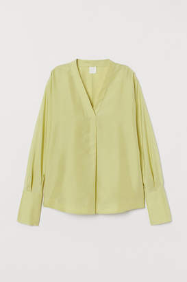H&M Silk Blouse - Yellow