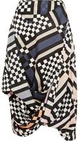 Vivienne Westwood Eight Draped Printed Cotton-voile Midi Skirt - IT38