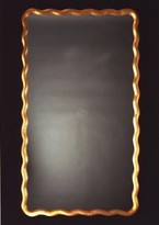 The Well Appointed House Carvers' Guild Scalloped Rectangle Wall Mirror in Gold