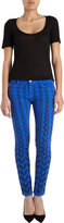 Current/Elliott Chevron Ankle Skinny- Cobalt Chevron