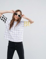 Asos T-Shirt with Blocked Gingham