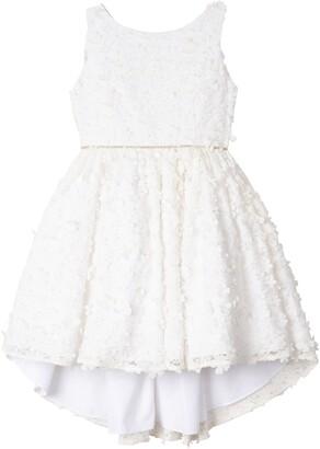 Badgley Mischka 3D Flower High/Low Dress
