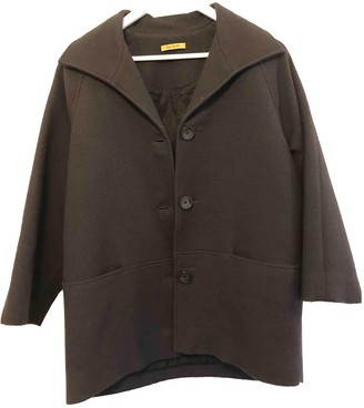 Peter Jensen Black Wool Coat for Women
