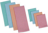 DESIGN IMPORTS Design Imports Summer Checks Heavyweight Set of 4 Kitchen Towels and Dishcloths