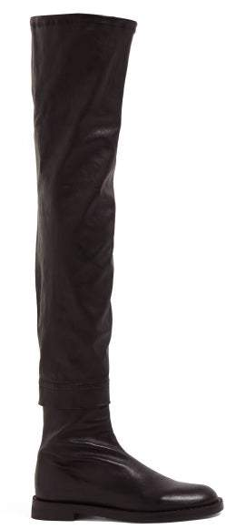 7338c5aed07 Over The Knee Nappa Leather Boots - Womens - Black