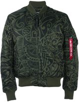 Alpha Industries printed flight jacket