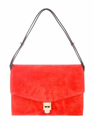 Marc Jacobs Memo Suede Shoulder Bag w/ Tags Orange