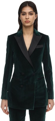 Elie Saab Double Breasted Velvet Blazer