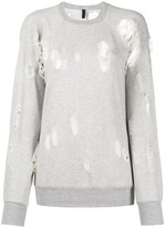 Unravel Project relaxed fit ripped detail sweatshirt