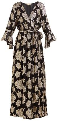 Melissa Odabash Look 17 Floral Fil-coupe Chiffon Maxi Dress - Black