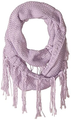 San Diego Hat Company KNS5006 Infinity Scarf with Fringe (Lavender) Scarves