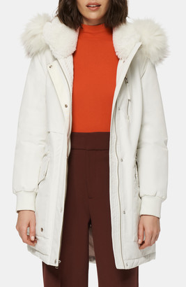 Andrew Marc Faux Fur Trimmed Down Hooded Parka