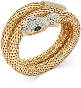 Thalia Sodi Gold-Tone Pavé Snake Coil Bracelet, Only at Macy's