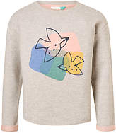 John Lewis Girls' Embroidered Geometric Bird Sweatshirt, Multi