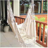 French Provincial Hanging Hammock Chair Cream