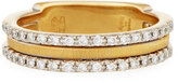 Marco Bicego Goa 18k Three-Row Double Pave Diamond Ring