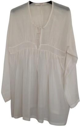 Jucca Beige Cotton Top for Women