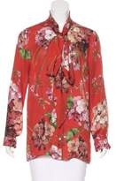 Gucci Silk Blooms Print Top