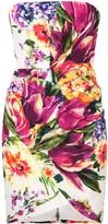 Alex Perry Caine floral print bandeau dress