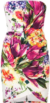 Alex Perry Caine floral print bandeau dress