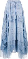 P.A.R.O.S.H. layered asymmetric maxi skirt - women - Silk/Polyester - S