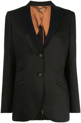 Maurizio Miri Single-Breasted Wool Jacket