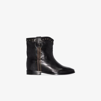 Isabel Marant black Cluster leather ankle boots