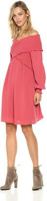 Ella Moon Women's Cambria Off-the-Shoulder Crossover Smocked Dress