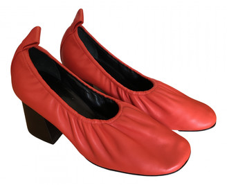 Celine Soft Ballerina Red Leather Heels