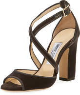 Jimmy Choo Carrie Velvet 100mm Sandals