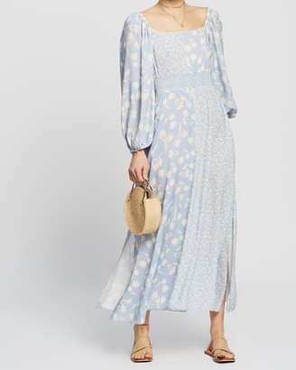 Peony Swimwear Spliced Midi Dress