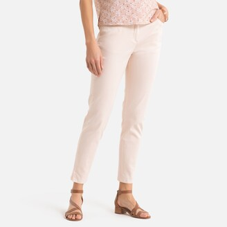 """Anne Weyburn Stretch Cotton Ankle Grazer Trousers, Length 27.5"""""""