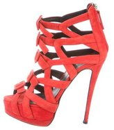 Giuseppe Zanotti Buckle-Accented Caged Sandals