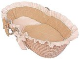 Hoohobbers Ruffled Moses Basket, Ecru by