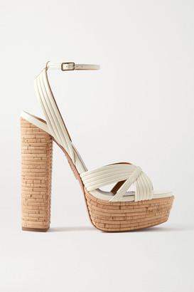 Aquazzura Sundance 140 Vegan Leather Platform Sandals - Off-white