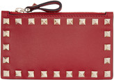 Valentino Red Rockstud Coin Pouch