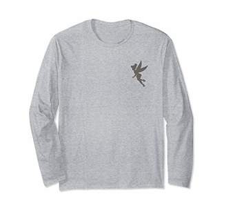 Disney Peter Pan Tinker Bell Pocket Silhouette Long Sleeve T-Shirt